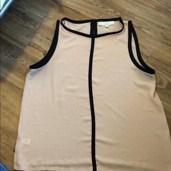 LOFT Tops - Loft blush and black blouse